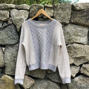 Anthropologie Sleeping On Snow Cropped Sweater.